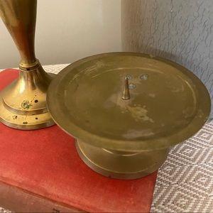 Vintage Accents - Brass Candle Holders Mismatched Vintage Wedding
